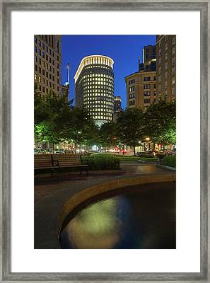 Framed Print featuring the photograph Boston Statler Park  by Juergen Roth