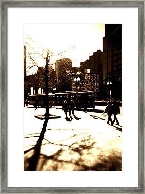 Boston Streetcar Framed Print by Utopia Concepts