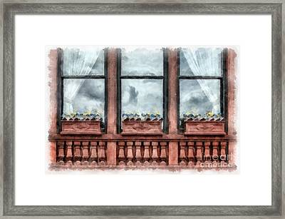 Boston Strong Memorial Back Bay Framed Print by Edward Fielding
