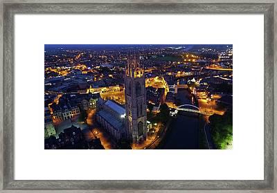 Boston Stump At Night Framed Print by TheDroneMan Net
