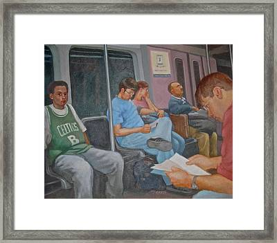 Boston Subway Framed Print