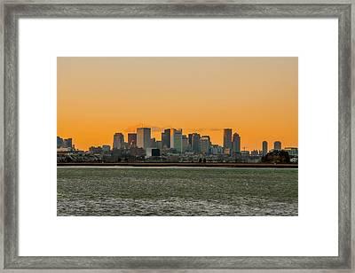Boston Sunset Framed Print