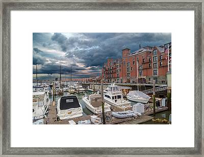 Boston Sunset Walk Framed Print