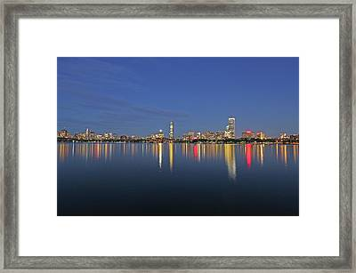 Boston Tallest Skyscrapers Framed Print by Juergen Roth