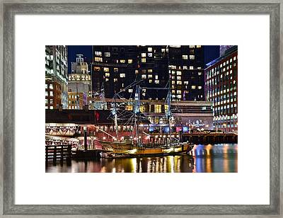 Boston Tea Party Framed Print by Frozen in Time Fine Art Photography