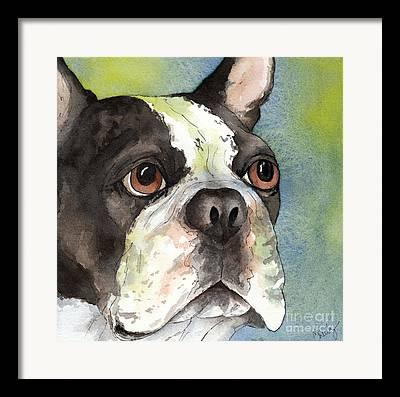 Watercolor Pet Portraits Framed Prints