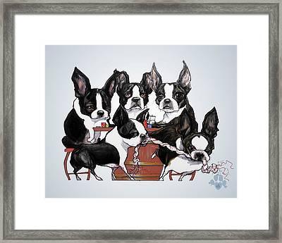 Boston Terrier - Dogs Playing Poker Framed Print
