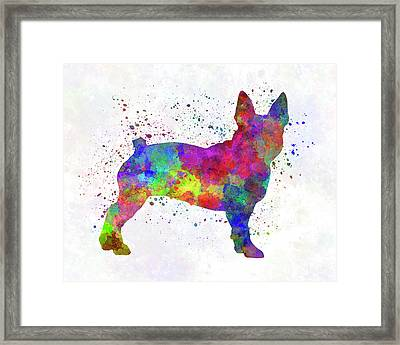 Boston Terrier 01 In Watercolor Framed Print