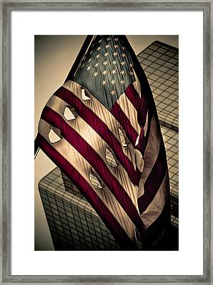 Boston Torn Framed Print by Andrew Kubica