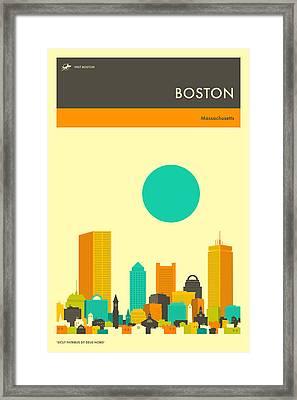 Boston Travel Poster Framed Print
