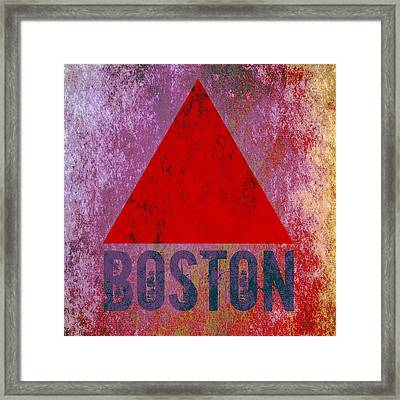 Boston Triangle Framed Print by Brandi Fitzgerald