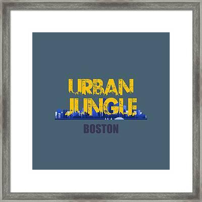 Boston Urban Jungle Shirt Framed Print by Joe Hamilton