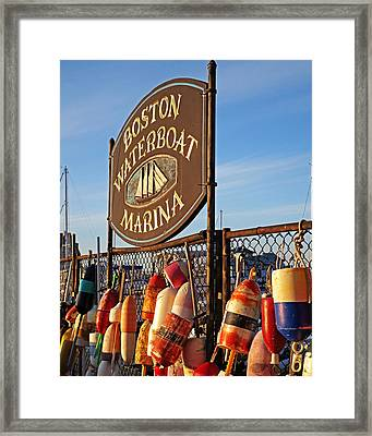 Boston Waterboat Marina Boston Ma Framed Print by Toby McGuire