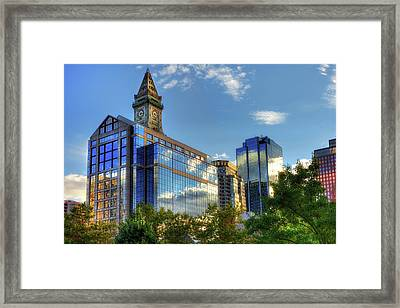 Boston Waterfront Architecture Framed Print