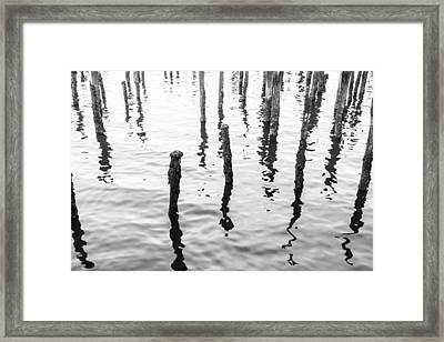 Boston Wharf Ruins Framed Print
