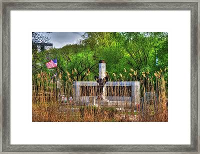 Boston World War 2 Memorial - Back Bay Fens  Framed Print