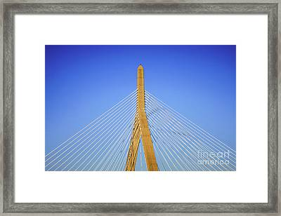 Boston Zakim Bunker Hill Bridge Photo Framed Print