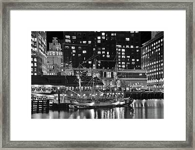 Framed Print featuring the photograph Bostonian Black And White by Frozen in Time Fine Art Photography