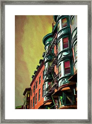 Boston's Famous North Square Framed Print