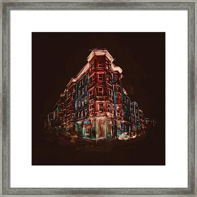 Bostons North End 222 4 Framed Print by Mawra Tahreem