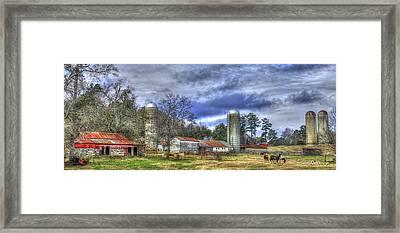 Boswell Farm Greene County Georgia Framed Print by Reid Callaway
