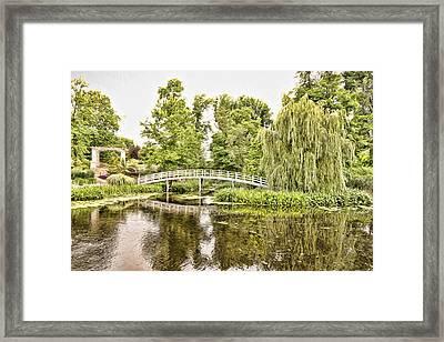 Botanical Bridge - Van Gogh Framed Print