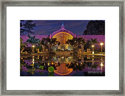Botanical Building At Night In Balboa Park Framed Print by Sam Antonio Photography