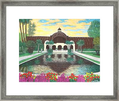 Botanical Building In Balboa Park 01 Framed Print