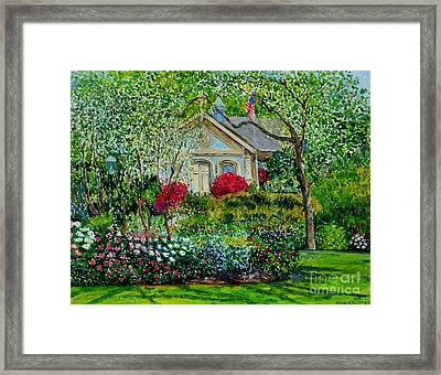 Botanical Garden, Azalea And Peonies Framed Print