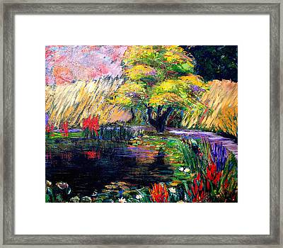 Botanical Garden In Lund Sweden Framed Print