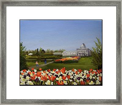 Botanical Garden-lewis Ginter Framed Print by Edward Williams