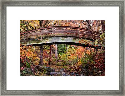 Botanical Gardens Arched Bridge Asheville During Fall Framed Print