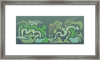 Botaniscribble Framed Print