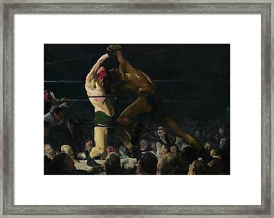 Both Members Of This Club Framed Print by George Bellows