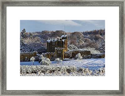 Bothal Castle In Winter Framed Print