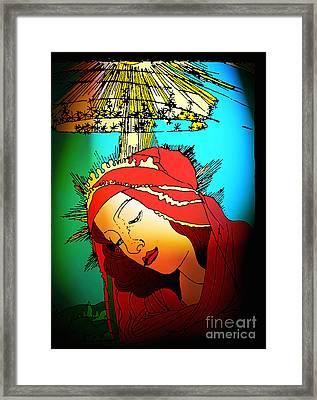 Botticelli Madonna Brights Framed Print by Genevieve Esson
