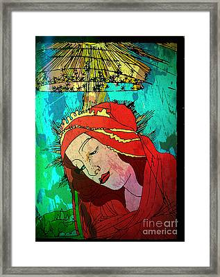 Botticelli Madonna Expressionistic Framed Print by Genevieve Esson