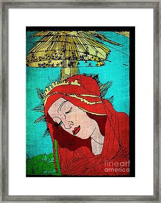 Botticelli Madonna Fabrique Framed Print by Genevieve Esson
