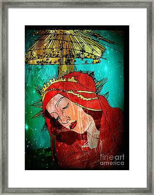 Botticelli Madonna In Space Framed Print by Genevieve Esson