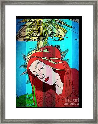 Botticelli Madonna In Vertical Stripes Framed Print by Genevieve Esson