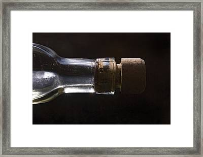 Bottle And Cork-1 Framed Print by Steve Somerville