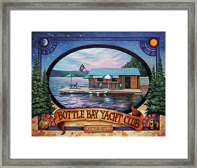Bottle Bay Yacht Club Framed Print