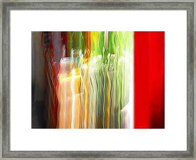 Framed Print featuring the photograph Bottle By The Window by Susan Capuano