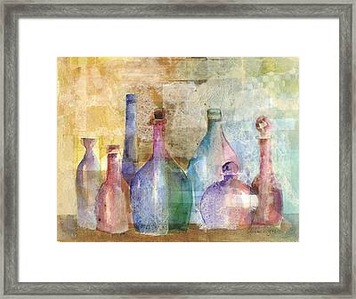 Bottle Collage Framed Print