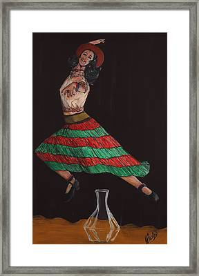 Bottle Jumper Framed Print