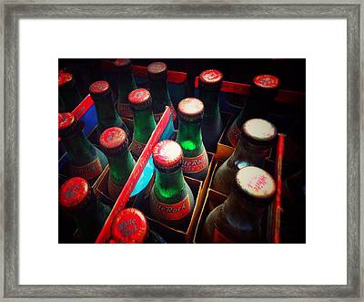 Framed Print featuring the photograph Bottle Necks by Olivier Calas