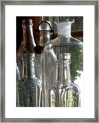 Bottle Necks Framed Print by Richard Mansfield