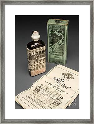Bottle Of Huxleys Ner-vigor, 19th Framed Print