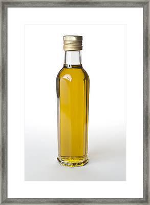 Bottle Of Olive Oil  Framed Print by Donald  Erickson