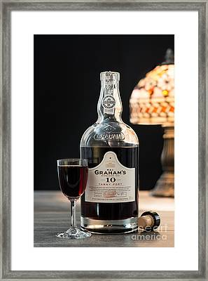 Bottle Of Port Framed Print by Amanda Elwell